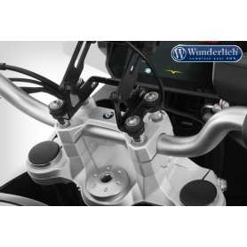 "Wunderlich ""ERGO"" handlebar riser for models with BMW sat nav - silver"