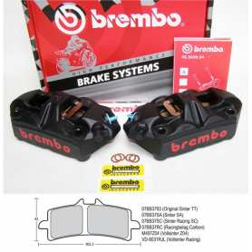 Radial M4 Monoblock Calipers Black. Original Brembo. 100 mm left/right