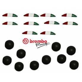 Brembo Kit Tricolor stickers and rubber cap