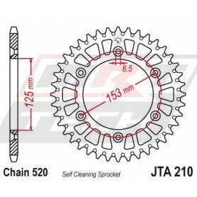 Aluminium Rear Race Sprocket. JTA210.48