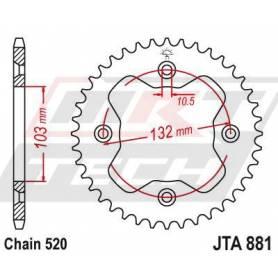 Aluminium Rear Race Sprocket. JTA881.38