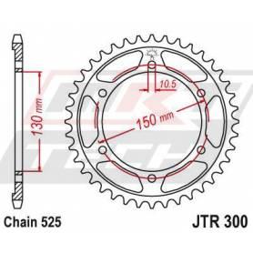 Steel Rear Sprocket. JTR300.42