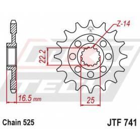 Steel Front Sprocket. JTF741.15