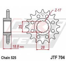 Steel Front Sprocket. JTF704.16