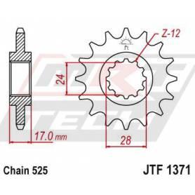 Steel Front Sprocket. JTF1371.15
