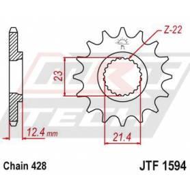 Steel Front Sprocket. JTF1594.15