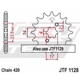Steel Front Sprocket. JTF1128.11