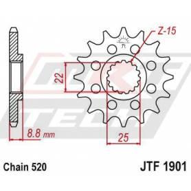 Steel Front Sprocket. JTF1901.12
