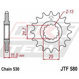 Steel Front Sprocket. JTF580.17