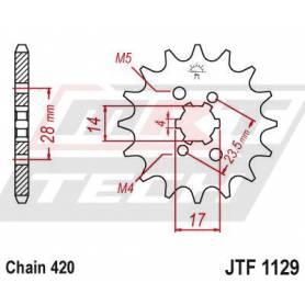 Steel Front Sprocket. JTF1129.14