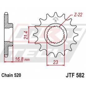 Steel Front Sprocket. JTF582.16