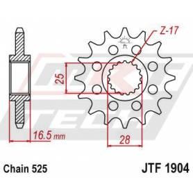 Steel Front Sprocket. JTF1904.17