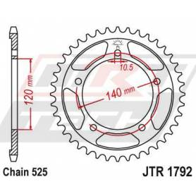 Steel Rear Sprocket. JTR1792.45
