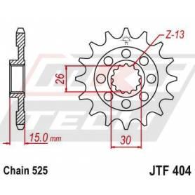 Steel Front Sprocket. JTF404.17