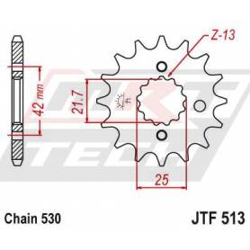 OEM Type Rubber Cushioned Front Sprocket. JTF513.16RB