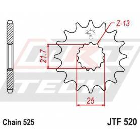 OEM Type Rubber Cushioned Front Sprocket. JTF520.17RB