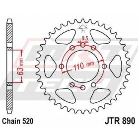 Aluminium Rear Race Sprocket. JTR890.45ZBK