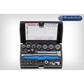 """Gedore tool kit 1/4 """"30-piece - black"""