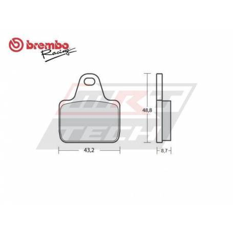 Rear Sintered Brake Pad Brembo 07787470