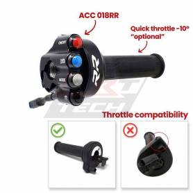 Throttle twist grip with integrated controls JP ACC 018 RR