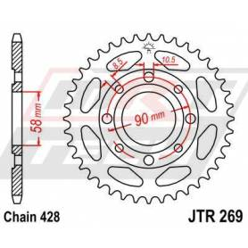 SPROCKET REAR 45T BLK